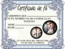 Certificado de fã do Luan Santana