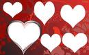 corações com 6 fotos