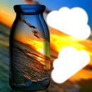 coucher de soleil en bouteille