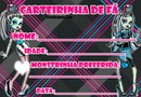 Carteirinha de Fã Monster High