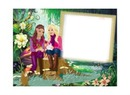 Moldura Barbie na Floresta