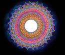 Mandala, cadre rond -1 photo