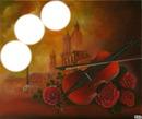 rose avec violon