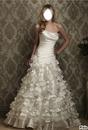 femme en robe de marier