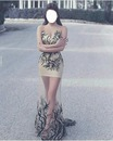 fille en robe de soirée