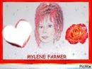 MYLENE FARMER (avec un coeur et une rose) dessiner par GINO GIBILARO