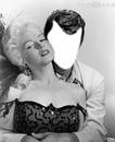 Contre le Visage Marilyn Monroe