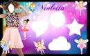 Marco de Violetta para 4 fotos