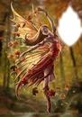 danseuse sur feuille