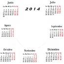 calendario 2014 2º semestre