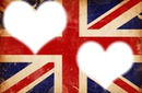 Coeur sur fond angleterre