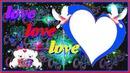 coeur avec 2 colombes et 2 ours 1 photo