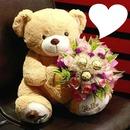 osito corazon con flores