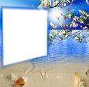 Cadre bleu étoilé