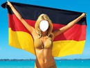 Germany flag girl