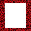 Cuadro Animal Print Rojo