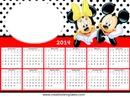 Calendário 2014 Minnie e Mickey