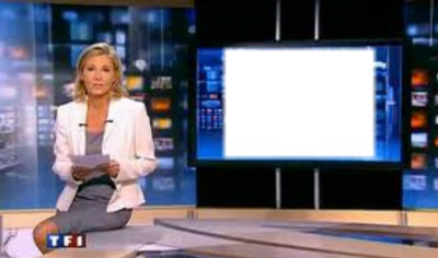 montage photo journal tf1 claire chazal pixiz. Black Bedroom Furniture Sets. Home Design Ideas