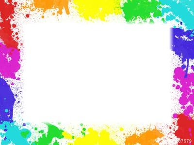 Montage photo cadre taches de peinture pixiz - Tache de peinture sur vetement ...