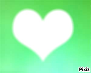 couer sur fond vert