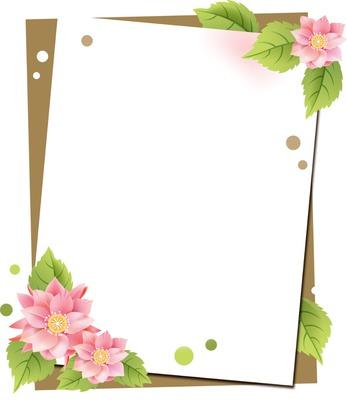 montage photo cadre fleurs roses pixiz. Black Bedroom Furniture Sets. Home Design Ideas
