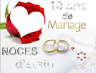 montage photo 10 ans de mariage pixiz. Black Bedroom Furniture Sets. Home Design Ideas