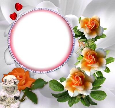 Rond avec des fleurs