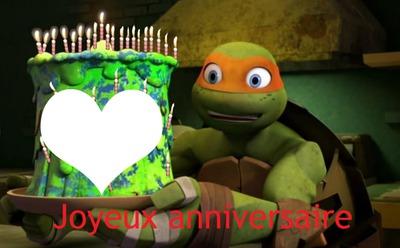 carte anniversaire tortue ninja