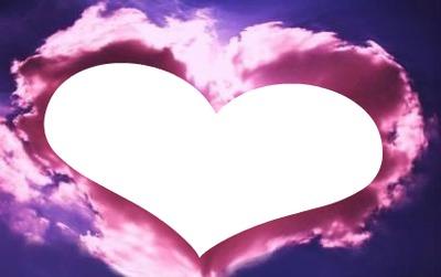montage photo nuage rose en forme de coeur pixiz. Black Bedroom Furniture Sets. Home Design Ideas