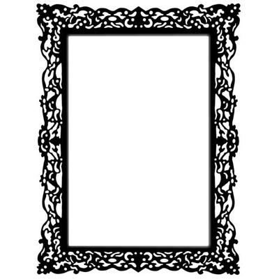 montage photo cadre baroque noir pixiz. Black Bedroom Furniture Sets. Home Design Ideas