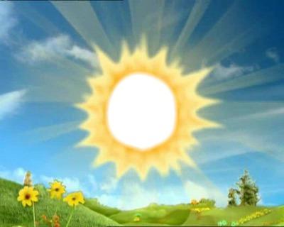 Photo montage teletubby sun pixiz - Soleil teletubbies ...