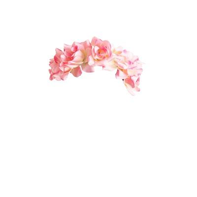 Couronne de fleurs pour visage comme Snapchat