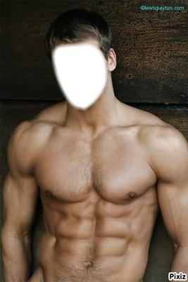Montage photo L'homme muscle - Pixiz