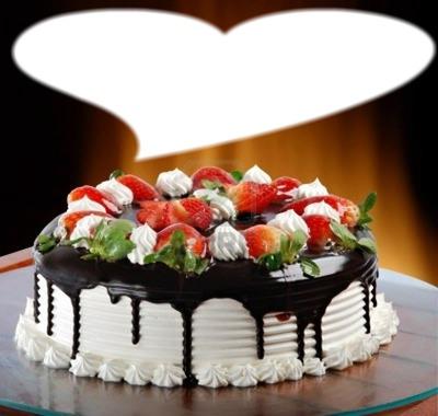 montage photo tarte d anniversaire pixiz