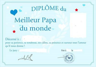 Montage photo dipl me du meilleur papa pixiz - Diplome du super papa a imprimer gratuit ...