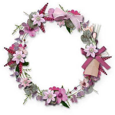 la couronne de fleur rose