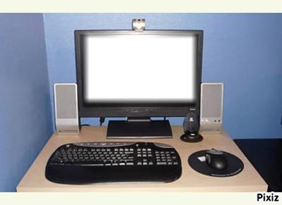 montage photo ordinateur portable pixiz. Black Bedroom Furniture Sets. Home Design Ideas