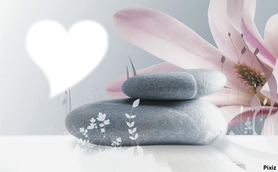 coeur galets zen