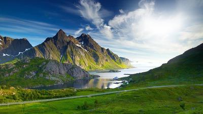 Nature lac et montagnes
