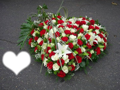 Montage photo couronne de fleur deuil pixiz - Fleuriste couronne de fleurs ...