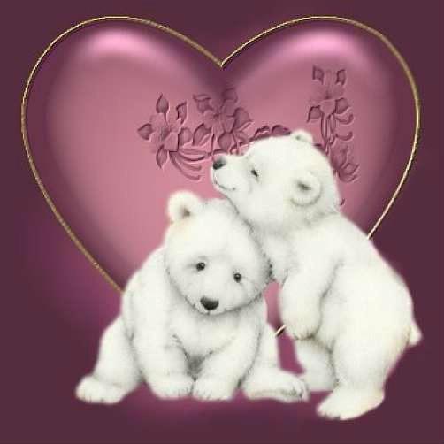 photo montage ours coeur pixiz