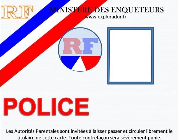 carte de police à imprimer Montage photo carte police 1 photo   Pixiz