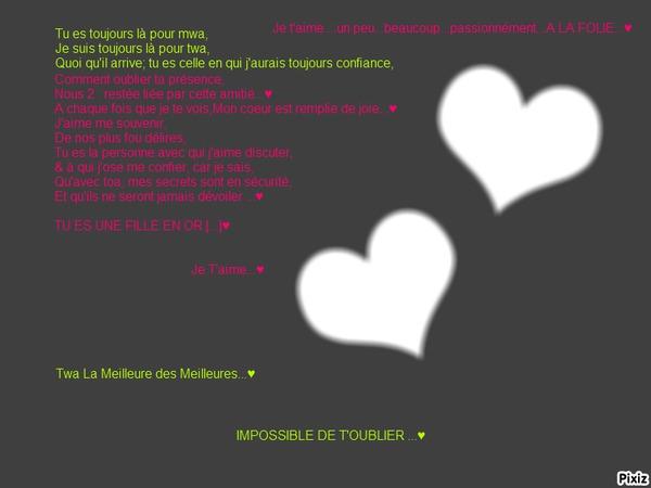 Bien Aimé Texte D Amour Pour Sa Meilleure Amie At68 Montrealeast