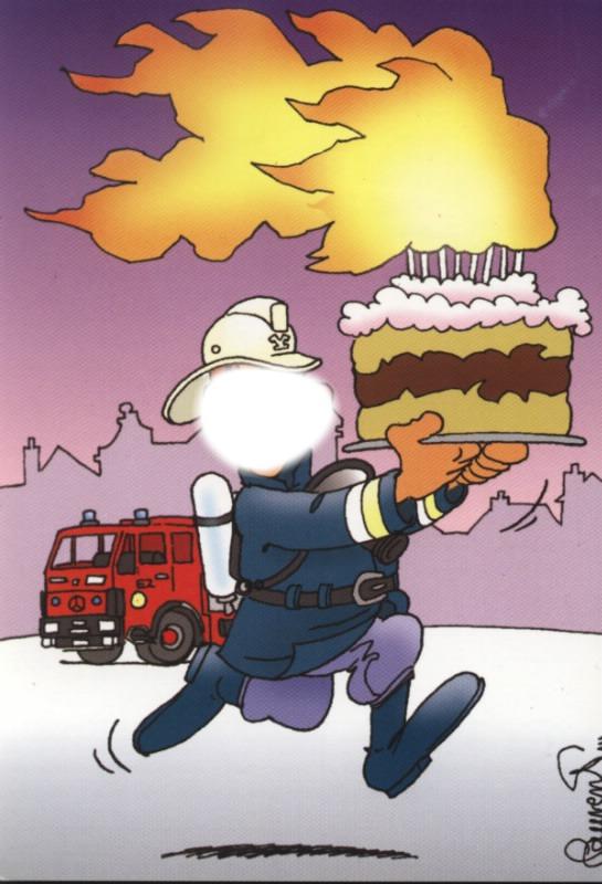 Открытки с днем рождения для пожарных