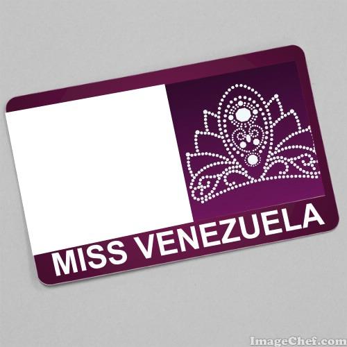 Photo montage Miss Venezuela Card - Pixiz