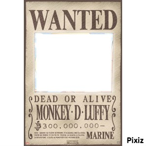 Montage photo wanted one piece pixiz - Affiche wanted one piece ...