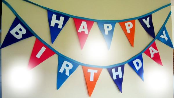 Гирлянда С днем рождения! с фотографиями ребенка 20