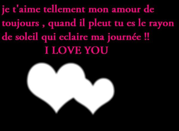 фотомонтаж Tu Es L Amour De Ma Vie Pixiz