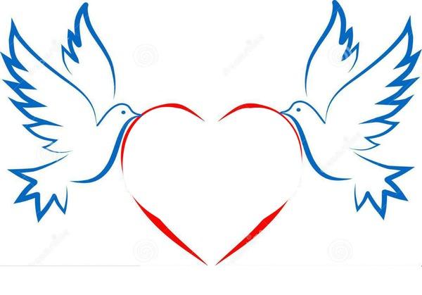 Красивые рисунки с голубями