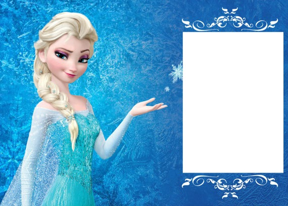 photo montage elsa u0026 39 s birthday invitation